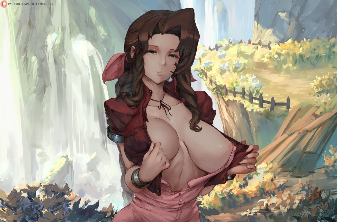 1280x844, 154 Kb / водопад, aeris, final fantasy, cutesexyrobutts
