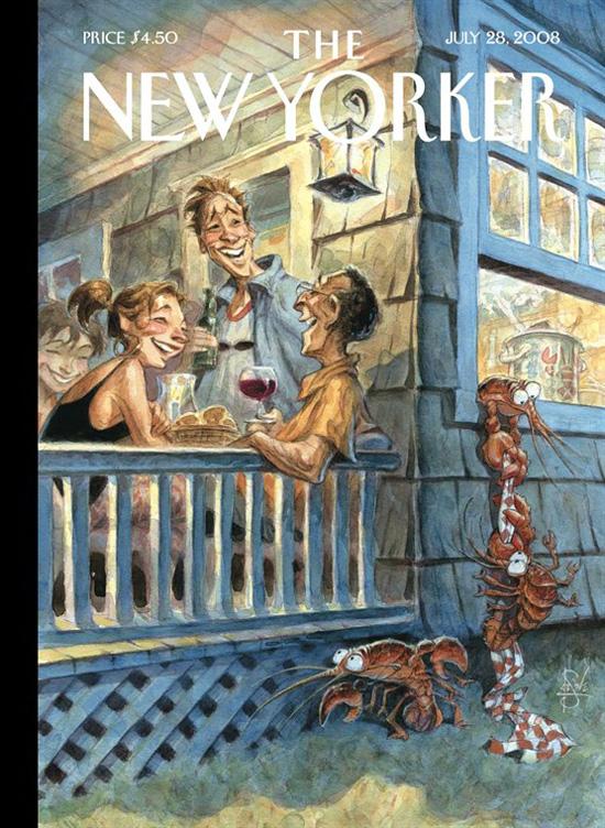 550x752, 227 Kb / Нью Йоркер, 2008, обложка, веранда, вино, раки, побег