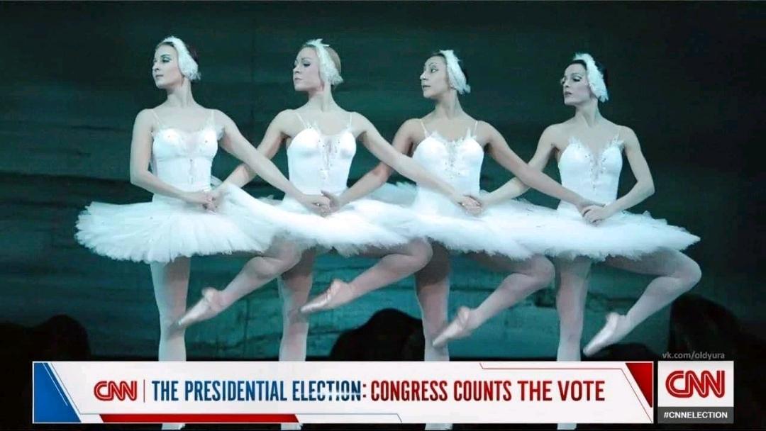 1080x608, 396 Kb / охрана, Вашингтон, протест, США, капитолий, балет, балерина