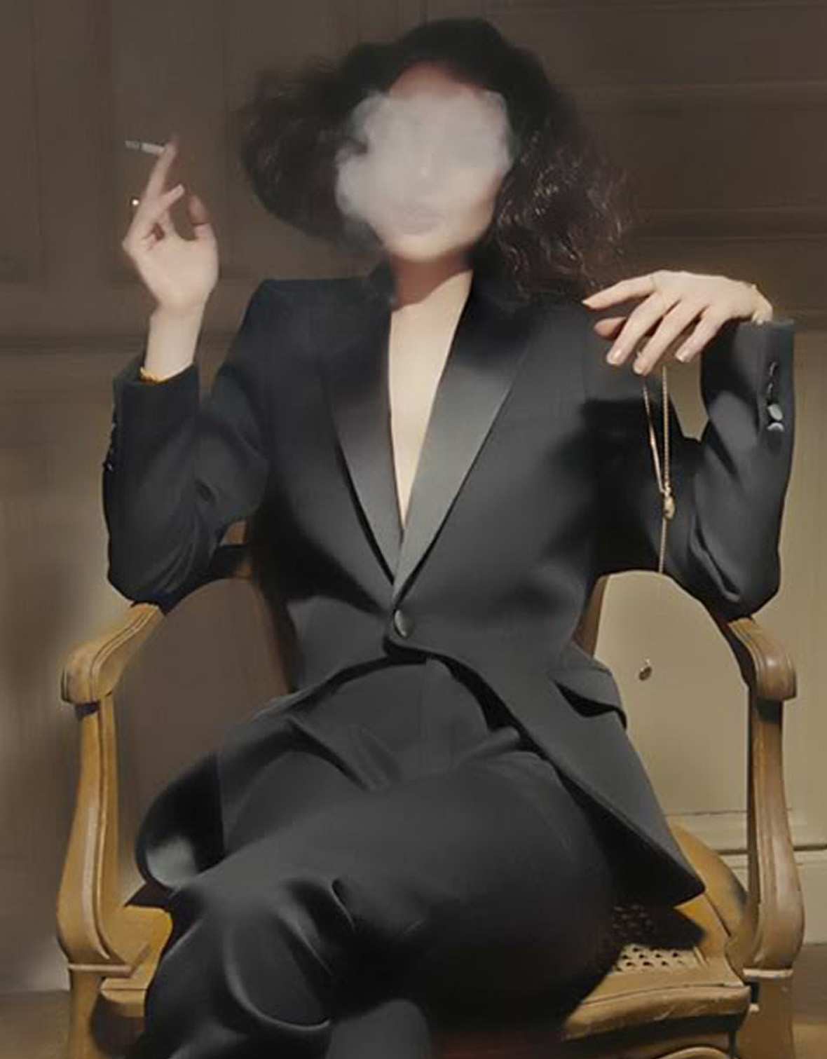 1180x1511, 187 Kb / сигарета, дым, костюм, стул, кулон
