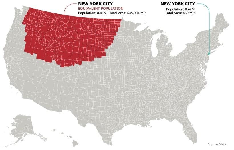 820x527, 73 Kb / карта, нью-йорк, население, сша